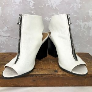 Report Signature Brynna White Zip Front Bootie 7.5
